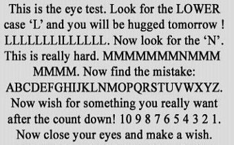 11 eye testsxx
